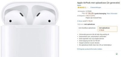 Apple AirPods 23% korting